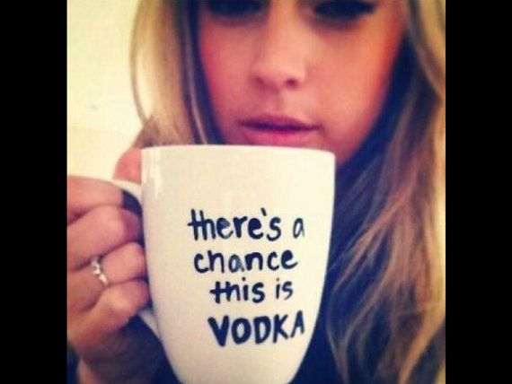 There is a chance this is vodka funny coffee tea mug by DIYCRYSTAL