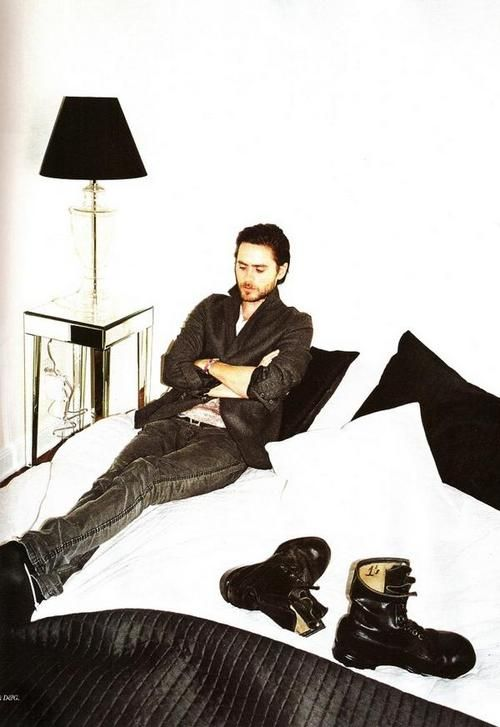 Jared Leto, black boots.   #LadyPorn