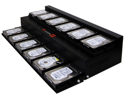 SySTOR 1:11 SATA Hard Disk Drive / Solid State Drive (HDD/SSD) Flatbed Clone Duplicator/Sanitizer - High Speed (150mb/sec) (SYS11HDD)