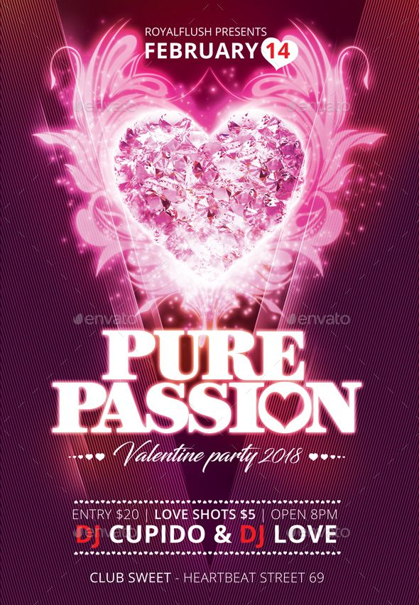 #Valentine Passion #Flyer - Flyers Print Templates