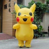 Wish | Christmas Pokemon Pikachu Inflatable Costume Adult Large Mascot Cosplay Spirit Dress Pikachu Halloween Costumes for Women Men (Size: One Size)