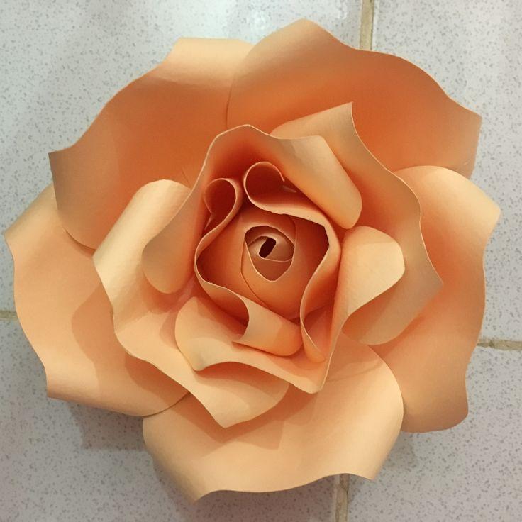 Paper rose #rose #papercraft