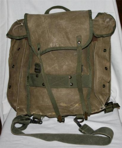 Very Old Vintage Hiking Camping Backpack Back Pack Boy Scouts Scout Canvas Bag