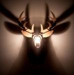 Matéria Incógnita – Inovação e Criatividade » Luminária de madeira imita troféu de caça na decoração da parede