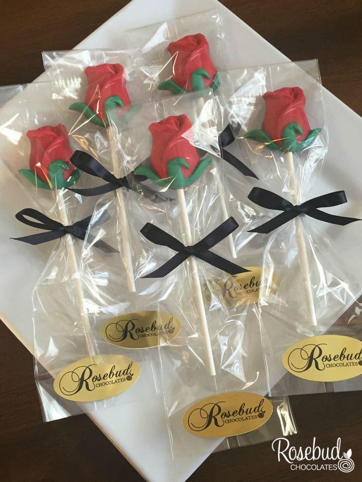 chocolate red rose lollipops   wedding  birthday
