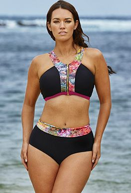 Fit Solutions - Laura Wells Coral Reef Zip Front Bikini