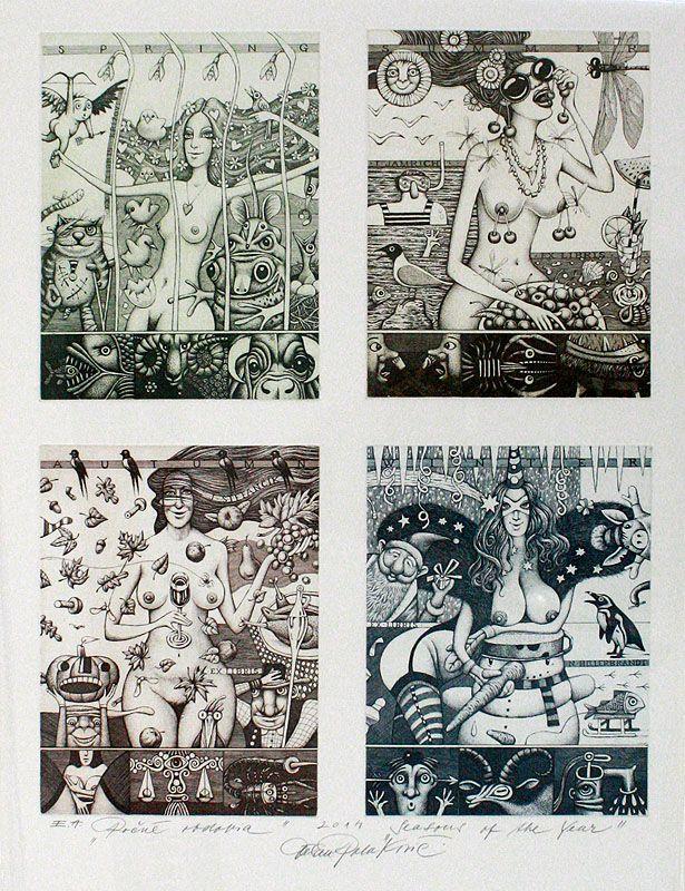 ROČNÉ OBDOBIA, lept / SEASONS, etching