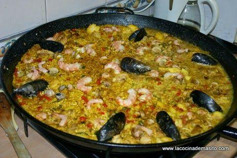 Paella mixta estilo Masito - La cocina de Masito