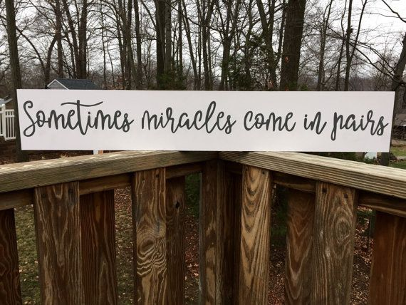 Sometimes Miracles Come in Pairs Twin Nursery by loveofshabchic