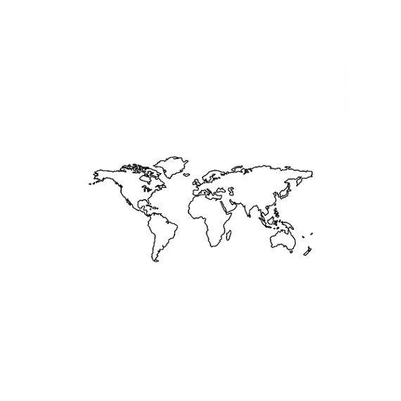 Satz von 2 Weltkarte temporäre Tattoo Muster Tattoo von ArrowTattoo