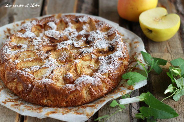 Torta+morbida+di+mele+e+cannella