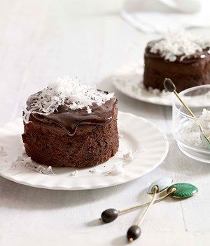 rum, chocolate and coconut cakes