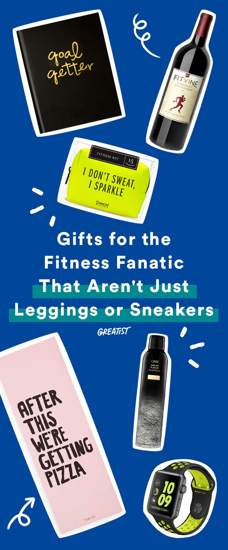 The best things short of a year-long gym membership.  #greatist http://greatist.com/move/gift-ideas-fitness-gifts-that-arent-leggings-or-sneakers