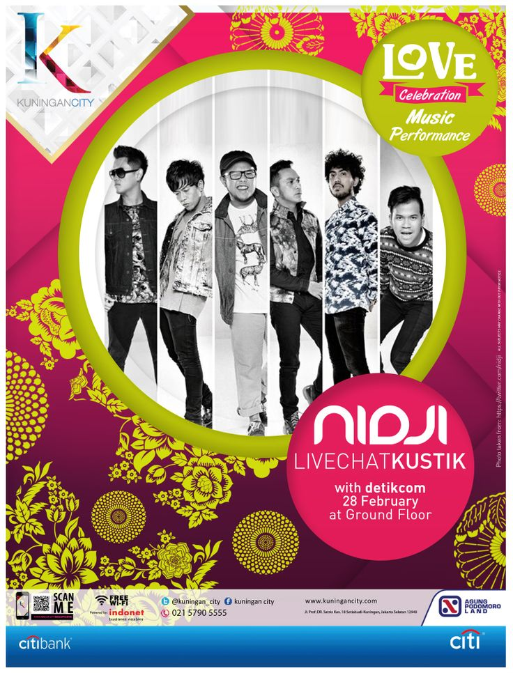 LOVE CELEBRATION at Kuningan City  MUSIC PERFORMANCE: NIDJI LIVECHATKUSTIK with Detik.com on 28 February