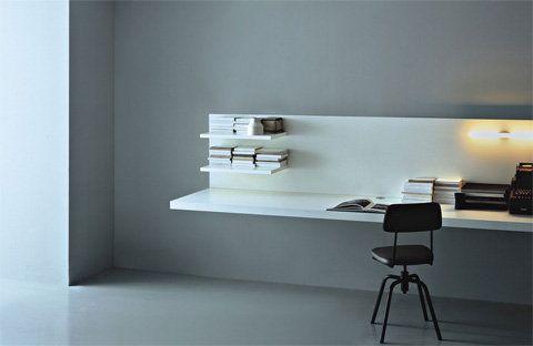 Now that is minimalism, shelf-desk-web-porro