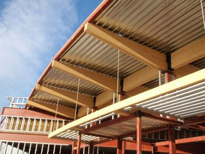 Images of the new branch library at Stapleton construction