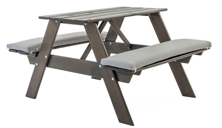 Gartenbank Grau Mit Tisch Ambientehome Spielbank Spieltisch Taupegrau