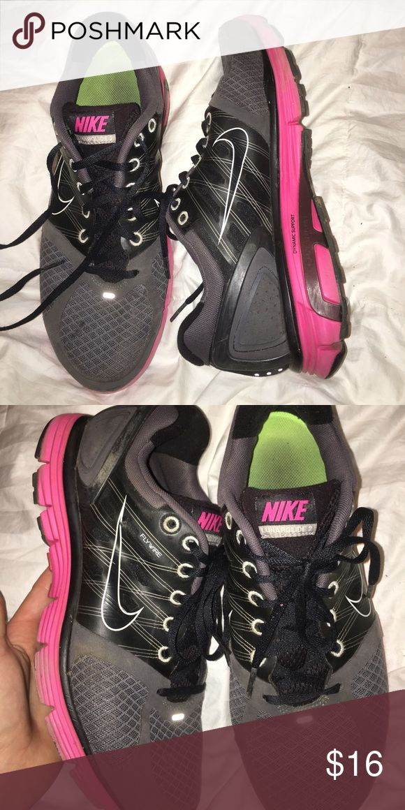 Nike Lunarglide 2 Pink/Gray, size 10, mild ware and tear Nike Shoes Athletic Shoes