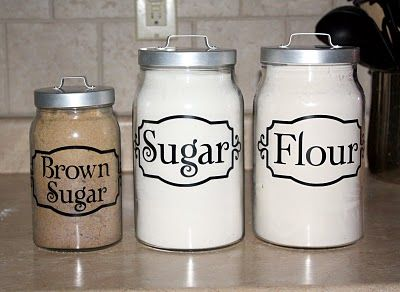 Everything Vinyl: Kitchen Canister Labels