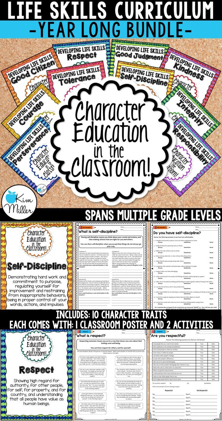 Teach your students important life skills with this Character Education in the Classroom Bundle which includes 10 classroom posters and 20 printables for students.  The perfect tool for growth mindset!