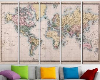 The Best Large World Map Poster Ideas On Pinterest World Map - Large vintage world map poster