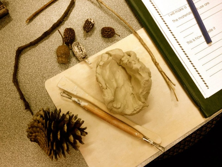 Clay materials with invitation to plan and document creation at Penbank School - Australia