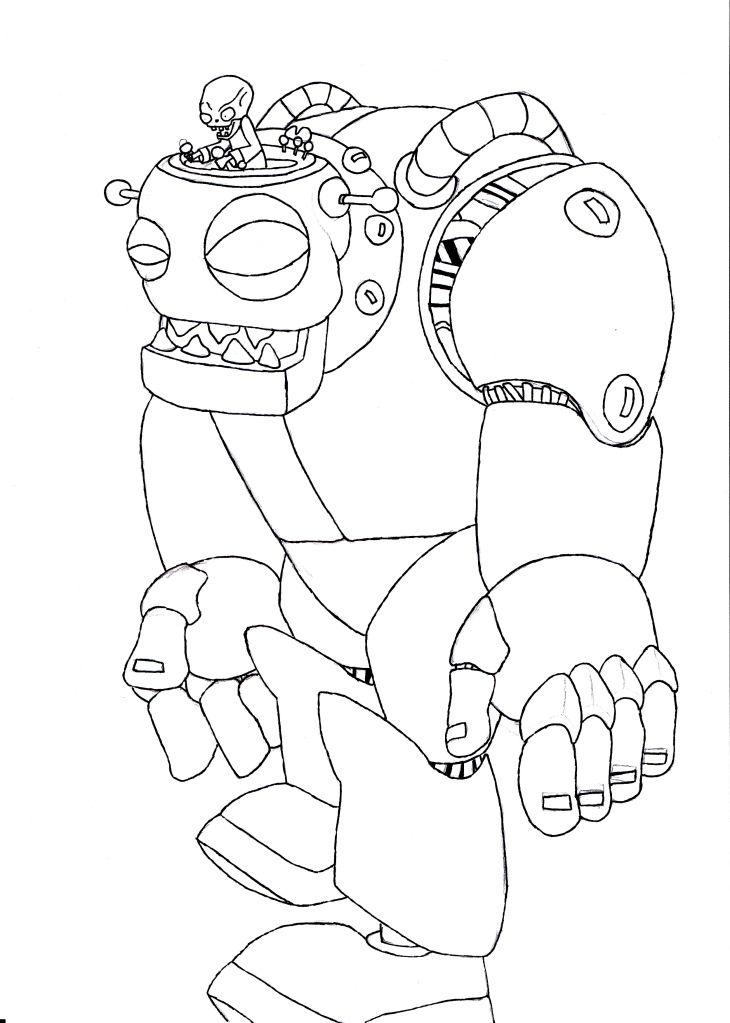 Coloring Pages For Plants Vs Zombies : Image zombot g plants vs zombies character creator