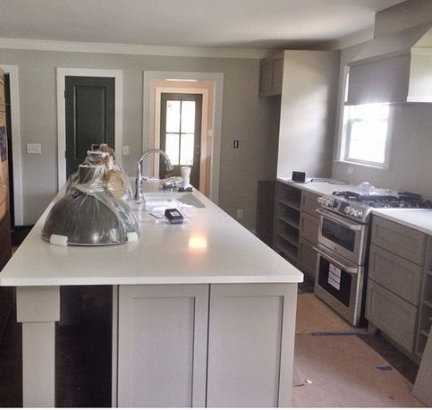 17 best images about 201 on pinterest islands gray for Brushed sage kitchen cabinets