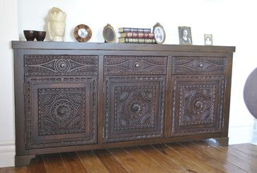 Spanish Colonial Vintage ~ - A lovely Spanish Colonial built in buffet designed to suit a clients taste.