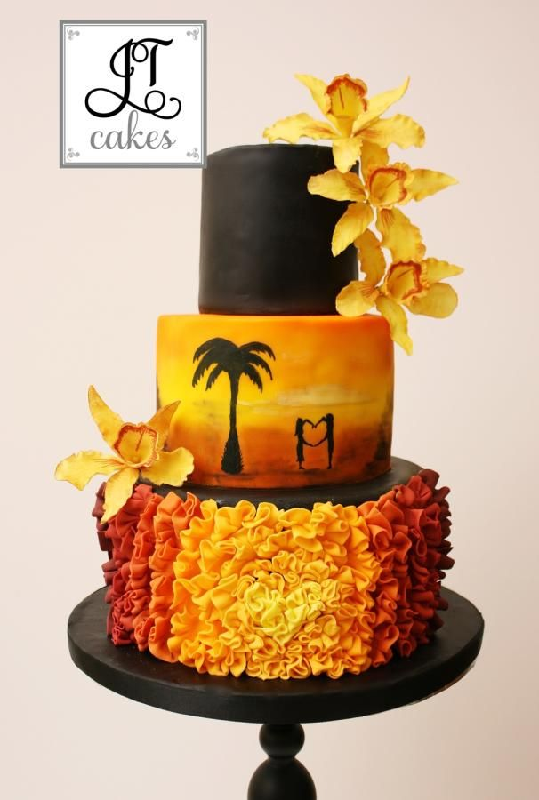 Sunset wedding cake - Cake by JT Cakes | Cakes & Cake ...