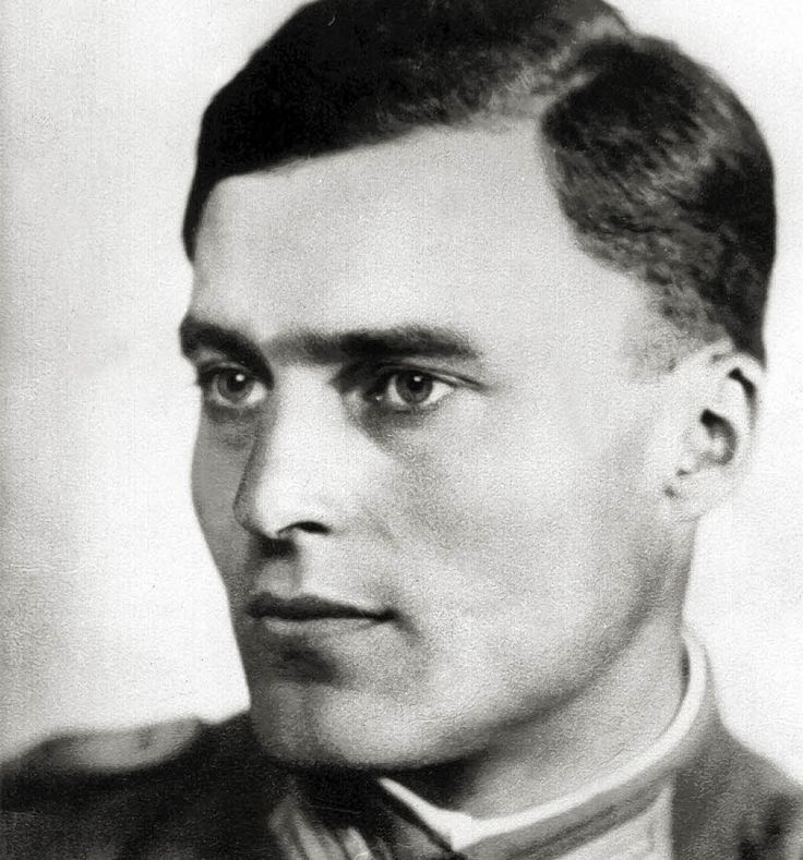 This is Claus von Stauffenberg. This beautiful motherfucker tried to blow up Hitler in 1944. He was a Roman Catholic during Nazi Germany and...