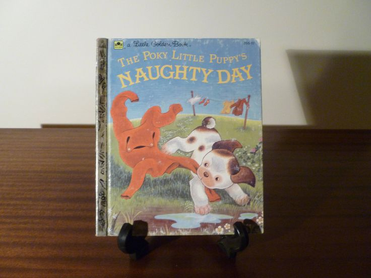 Here is a Childrens book from 1985: The Poky Little Puppys Naughty Day A part of the Little Golden Book series.  Story and Pictures by Jean Chandler.