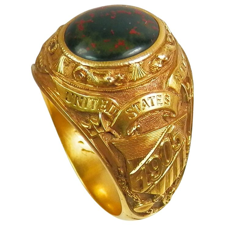 Circa 1905 Bailey Banks & Biddle US Navy Ring | From a unique collection of vintage signet rings at https://www.1stdibs.com/jewelry/rings/signet-rings/