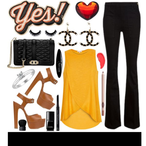 yes! by julietacelina on Polyvore featuring River Island, Frame Denim, Brian Atwood, Rebecca Minkoff, Chanel, Tiffany & Co., Anya Hindmarch, Christian Dior, Maybelline and Charlotte Tilbury
