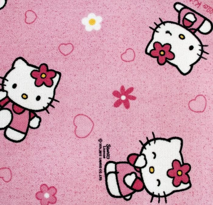 Mocheta Hello Kitty Pentru Copii, o mocheta de culoare roz, destinata in special camerelor de fete, reprezentand cunoscuta pisicuta Hello Kitty.