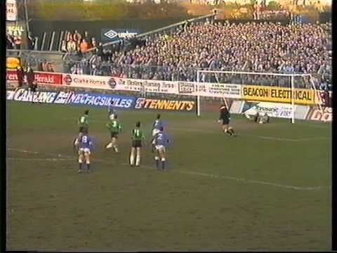 Everton FC -  Plymouth Argyle v Everton FA Cup 4th Round + Replay - BBC Grandstand -1989. Everton play away to Plymouth in the 4th round of the FA Cup 1989. The first game ends 1-1 after Plymouth had taken the lead, the replay was an emphatic victory to Everton at Goodison Park under the lights.