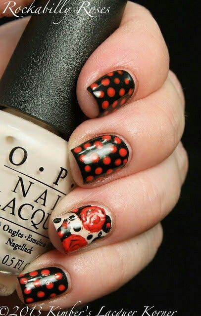 Rockabilly Nails ♥