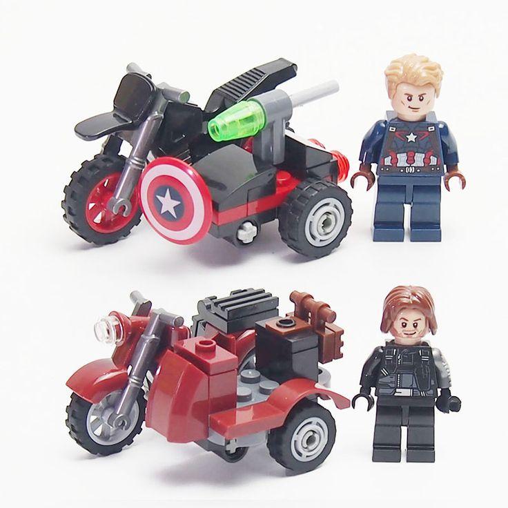 Super Heroes Avengers DC Mini senjata Militer Sepeda Motor lepines Batman Angka Blok Bangunan Batu Bata mainan untuk anak-anak
