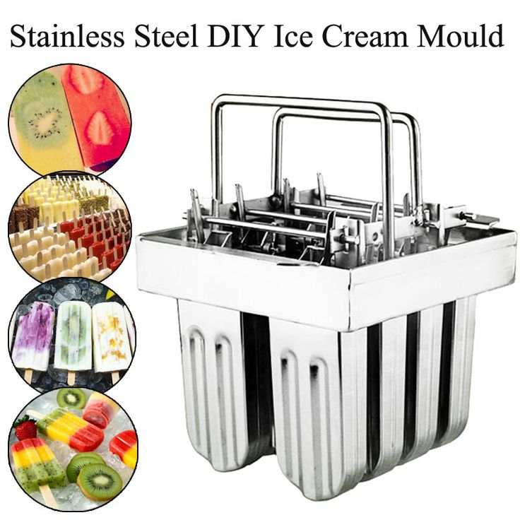 Industrial Stainless Steel Ice Cream Maker 8 Cells Ice Molds Lolly Popsicle Stick Bars Holder Home DIY Ice Cream Maker Supplies #Affiliate