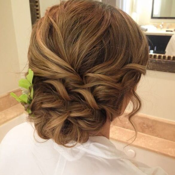 beautiful prom hair #up #prom #hair #beautiful #lovely #pretty #bun #brown