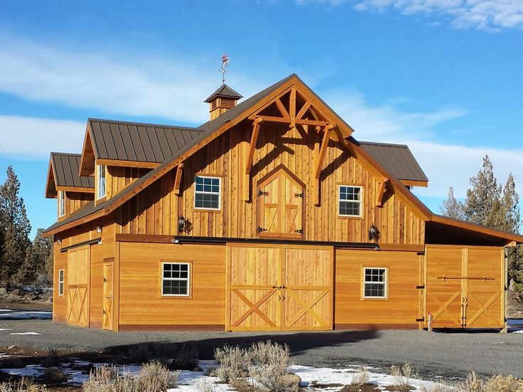 Denali apartment barn with loft barn pros shown with for Barn garage apartment