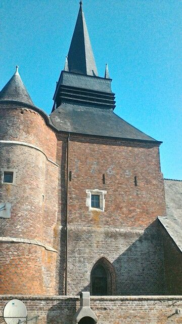 Fortified church parfondeval france