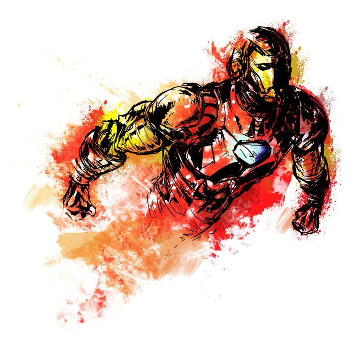 Midnight Iron Man sketch by Vincent Vernacatola