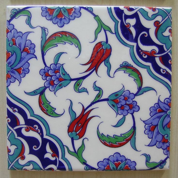 IZNIK CERAMIC TILE with Traditional Kutahya by MineHomeDecoration