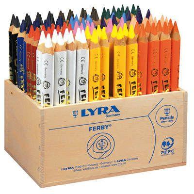 Lyra FERBY Farbstifte 96 Stifte im Holzaufsteller - Lyra Buntstifte Stifte, Marker & Painter Farben, Stifte & Co. Produkte - Creativ-Discount.de