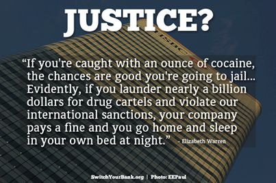 Elizabeth Warren, Our next president :)...Send the top 6 executives to jail and fine the company 1% of its assets.