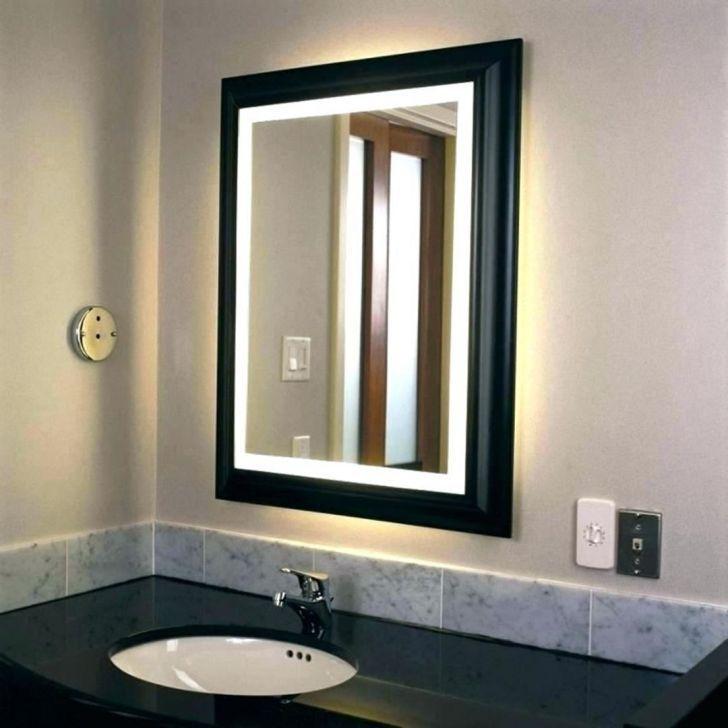 Big Size Mirror In The Bathroom Modern Ikea