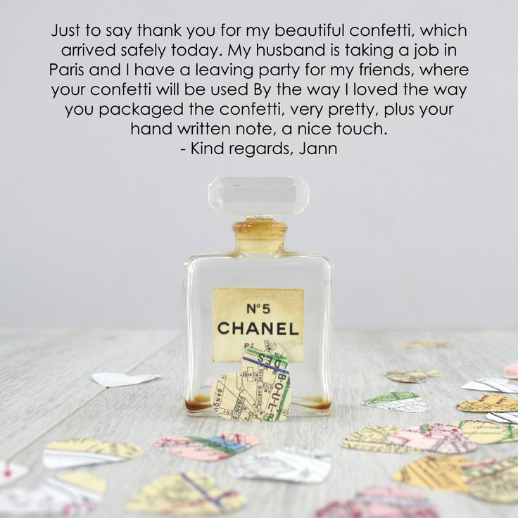 Lovely review from a customer that bought our #paris #confetti map hearts for a party