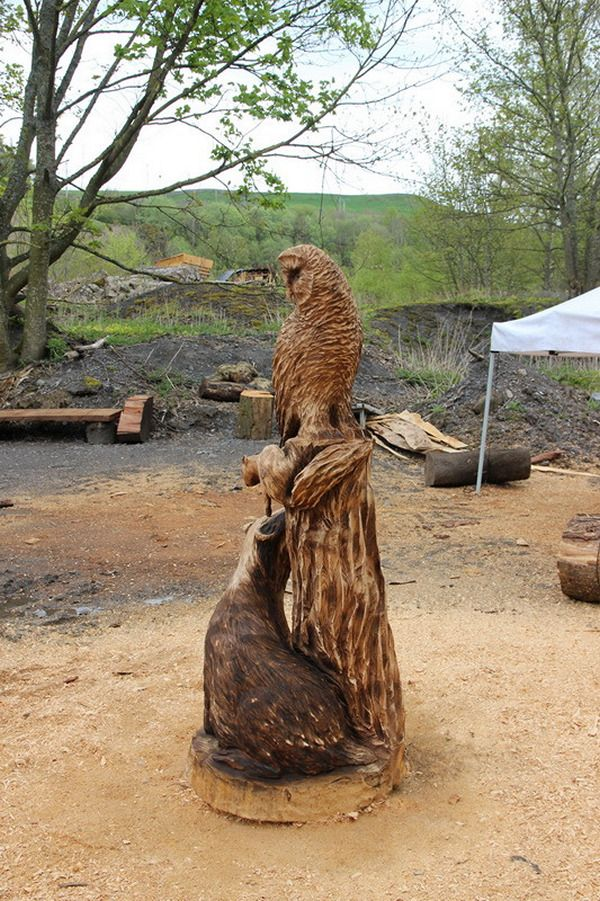Chainsaw carving carvings tree sculpting pinterest
