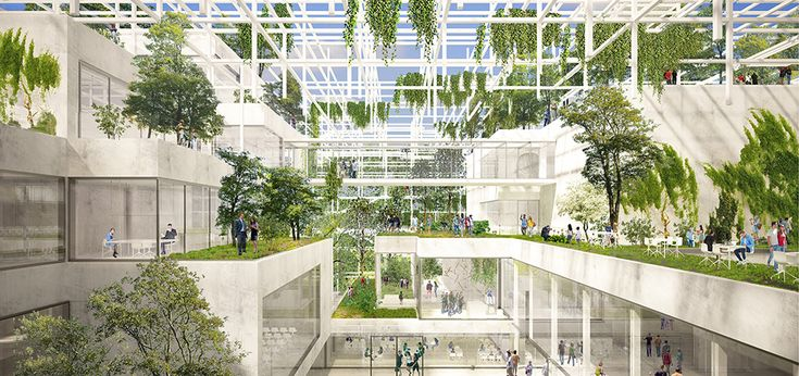 Sustainable Proposal Envisions Krakow's New Science Center as a Tiered Garden,Courtesy of OVO Grąbczewscy Architekci